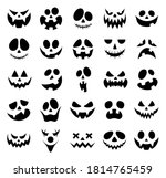 set of scary and funny faces of ... | Shutterstock .eps vector #1814765459