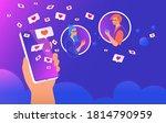 social media likes and hearts...   Shutterstock .eps vector #1814790959
