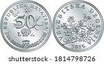 croatian 50 lipa coin  degenia...   Shutterstock .eps vector #1814798726