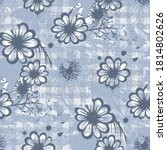 plaid seamless pattern with... | Shutterstock . vector #1814802626