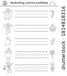 vector halloween handwriting... | Shutterstock .eps vector #1814818316