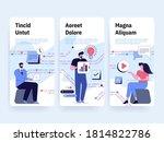 mobile app development concept. ... | Shutterstock .eps vector #1814822786