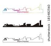 manchester skyline linear style
