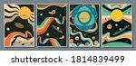 psychedelic space 1960s style... | Shutterstock .eps vector #1814839499