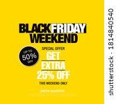 black friday sale banner layout ...   Shutterstock .eps vector #1814840540