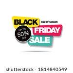 black friday sale banner layout ... | Shutterstock .eps vector #1814840549