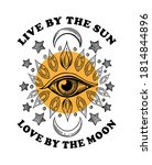 live by the sun love by the... | Shutterstock .eps vector #1814844896