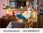 Elderly Bearded Mature Man Read ...