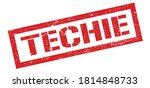 Techie Red Grungy Rectangle...