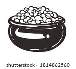 pot of cottage cheese with a...   Shutterstock .eps vector #1814862560