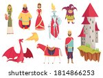 medieval kingdom characters of... | Shutterstock .eps vector #1814866253