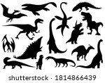 collection silhouettes of... | Shutterstock .eps vector #1814866439