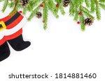 Legs Of Santa Claus In Felt...