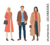 set of young man and women... | Shutterstock .eps vector #1814883083