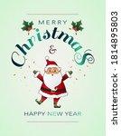 christmas postcard with santa...   Shutterstock .eps vector #1814895803