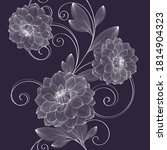 seamless pattern with flowers... | Shutterstock .eps vector #1814904323
