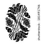 black and white flower... | Shutterstock .eps vector #181491746