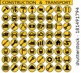 construction and transport | Shutterstock .eps vector #181491794