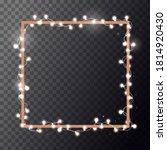 christmas bright white garland... | Shutterstock .eps vector #1814920430