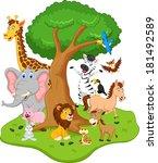 funny animal cartoon | Shutterstock . vector #181492589