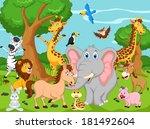 funny animal cartoon  | Shutterstock . vector #181492604