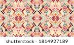 ikat geometric folklore... | Shutterstock .eps vector #1814927189