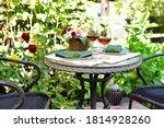 Outdoor Patio Cafe Dining Area...