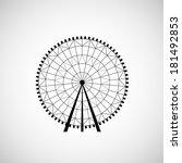 ferris wheel from amusement park | Shutterstock . vector #181492853