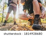 Close Up Of Young Female Hiker...