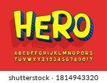trendy 3d comical design ... | Shutterstock .eps vector #1814943320