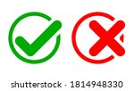 set of yes and no or right and... | Shutterstock .eps vector #1814948330