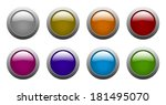 set of vector color rounded... | Shutterstock .eps vector #181495070