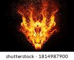 3d Illustration Of A Fiery...