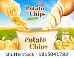 potato chips advertisement ... | Shutterstock .eps vector #1815041783