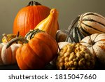 Photo Of A Variety Of Pumpkins  ...