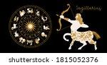 zodiac sign sagittarius.... | Shutterstock .eps vector #1815052376