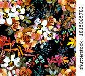 botanical seamless pattern.... | Shutterstock . vector #1815065783