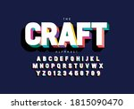 vector of stylized crafted font ... | Shutterstock .eps vector #1815090470