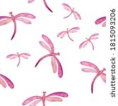 Dragonfly Cute Seamless Patter...