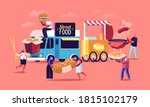 characters buying street food... | Shutterstock .eps vector #1815102179