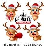 reindeer characters vector set. ...   Shutterstock .eps vector #1815102410