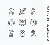 technology of the future icons... | Shutterstock .eps vector #1815115490