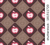seamless background with apple | Shutterstock .eps vector #181511720