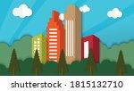 flat design world habitat day... | Shutterstock .eps vector #1815132710