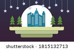 cityscape scenery papercut at... | Shutterstock .eps vector #1815132713