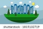 eco green urban city background ... | Shutterstock .eps vector #1815132719