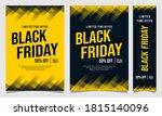 black friday event flyer banner ... | Shutterstock .eps vector #1815140096