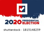 presidential election 2020 in... | Shutterstock .eps vector #1815148259