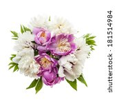 Bouquet Of Fresh Peony Flowers...