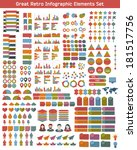 flat infographic elements set... | Shutterstock .eps vector #181517756